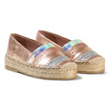 Minna Parikka Rose Gold Espadrilles with Multi Coloured Stripes