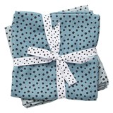 Done by Deer Burp Cloth 2-pack Happy Dots Blue