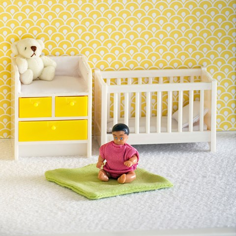 Lundby Dolls House Baby and Changing Table