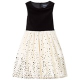 Lands' End Gold and Silver Woven Tulle Party Dress
