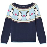 Lands' End Navy Penguin Sweater