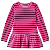 Lands' End Pink Striped Fleece Tunic