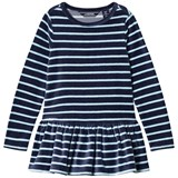 Lands' End Navy Striped Fleece Tunic