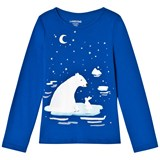 Lands' End Blue Artic Friends Graphic Long Sleeve Tee