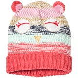 Lands' End Red Pink and Green Owl Knitted Beanie