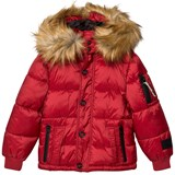 Diadora Red Sun Valley Piumino Corto Nylon Hooded Jacket