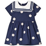 Mini Rodini Navy Dot Woven Sailor Dress