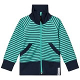 Geggamoja Navy And Green Zip Sweater