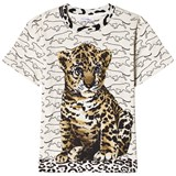 Dolce & Gabbana Grey Leopard Cub and All Over Print Tee