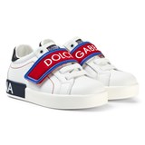 Dolce & Gabbana White Branded Velcro Trainers