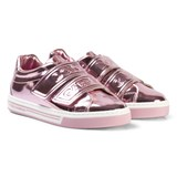 Dolce & Gabbana Pink Metallic Branded Velcro Trainers
