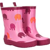 Celavi Pink and Red Wellington Boots