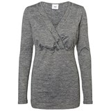Mamalicious MLFami Anette LS Jersey Top NF Grey