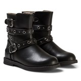 Mayoral Black Leather Biker Boots