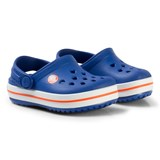 Crocs Kids Blue and Red Crocband Clogs