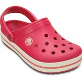 Crocs Kids Tofflor, Kids Crocband, Raspberry/White