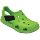Crocs Kids Tofflor, Shiftwater Wave, Volt Green