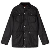 Joules Black Faux Wax Jacket
