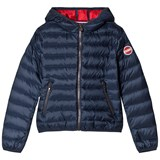 Colmar Navy with Red Lining Hooded Bomber Jacket