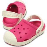 Crocs Kids Tofflor, Bump It Clog, Candy Pink/Oyster
