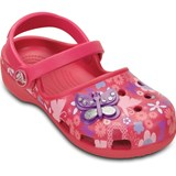Crocs Kids Tofflor, Karin Butterfly Clog, Raspberry