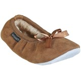 Shepherd Chestnut Brown Bow Detail Sheepskin Slippers