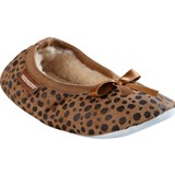 Shepherd Brown Leopard Print Bow Detail Slippers