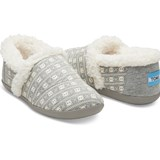 Toms Grey Jersey Skulls House Slipper