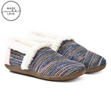 Toms Black Multi Metallic Woven Slippers