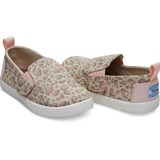 Toms Pale Pink Leopard Bob Cat Shoes