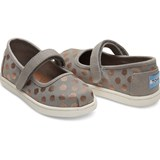 Toms Grey and Rose Gold Drizzle Shoes