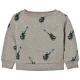 One We Like Grey Melange Baby Basic Guitar Sweater
