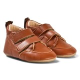 Easy Peasy Brown Leather Velcro Izi V First Walker Shoes