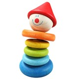 Classic World Clown Rattle Activity Toy
