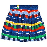 Stella McCartney Kids Multi Rag Print Skirt