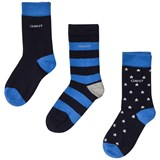 Gant 3 Pack of Stripe, Star and Solid Socks