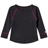 Mikk-Line WOOL LS top Raspberry Wine
