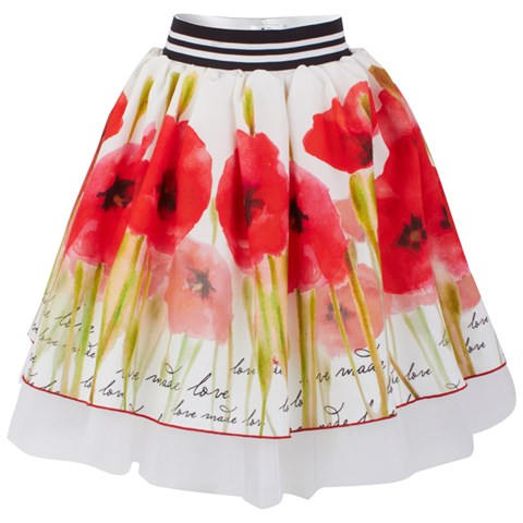 Love made Love Chiffon and Tulle Poppy Skirt