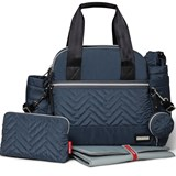Skip Hop Steel Grey Suite Diaper Satchel