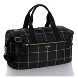 Jem + Bea Black Frames Print Edie Weekender with Wash Bag and Changing Mat