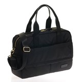 Jem + Bea Black Marlow Nylon Duffel Bag with Changing Mat