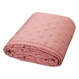 Cam Cam Dark Blush Pink and Gold Dot Baby Quilt