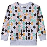 Gardner and The Gang Grey Harlequin Print Sweater