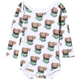 Gardner and The Gang Grey Dog Print Romper