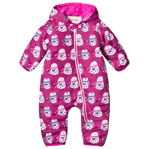 Hatley Purple Penguin Puffer Snowsuit