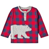 Hatley Red Bear Applique Gingham Tee