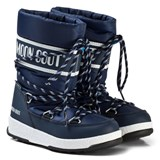 Moon Boot Navy Blue and White Moon Boot