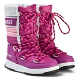 Moon Boot Moon Boot Quilted Pink and White Snow Boot