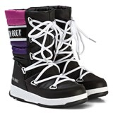 Moon Boot Moon Boot Quilted Black and Purple Snow Boot