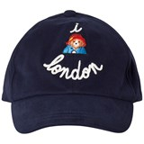 Maison Labiche Navy Paddington London Print Baseball Cap